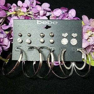 Bebe 6 piece earring set